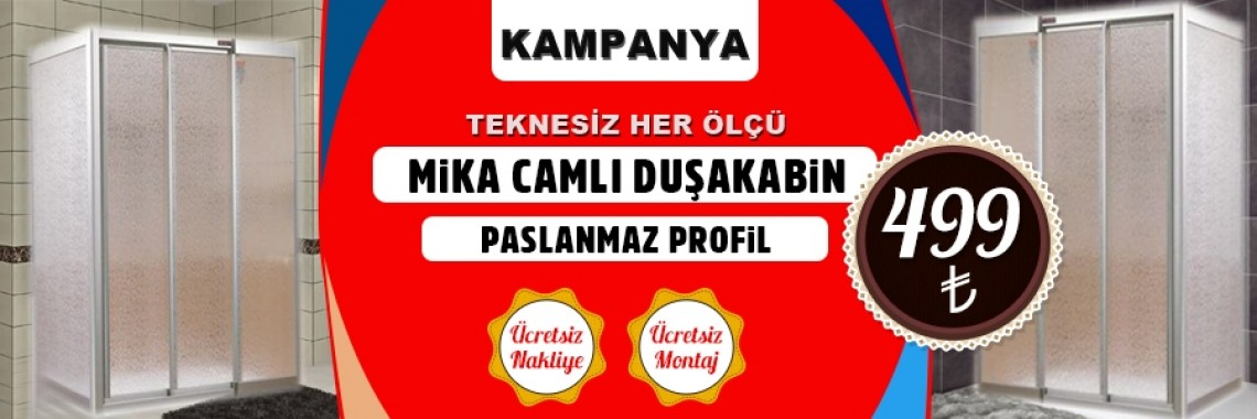 Paslanmaz Profil Mika Duşakabin