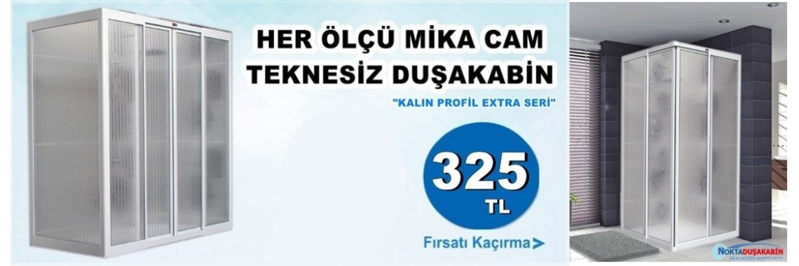 Mika Camlı Duşakabin TEKNESİZ